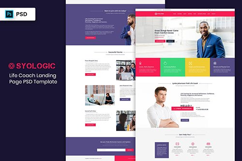 Landing Page PSD - Life Coach
