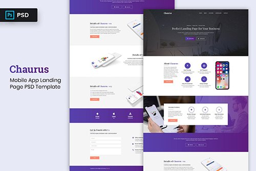 Landing Page PSD - Mobile App