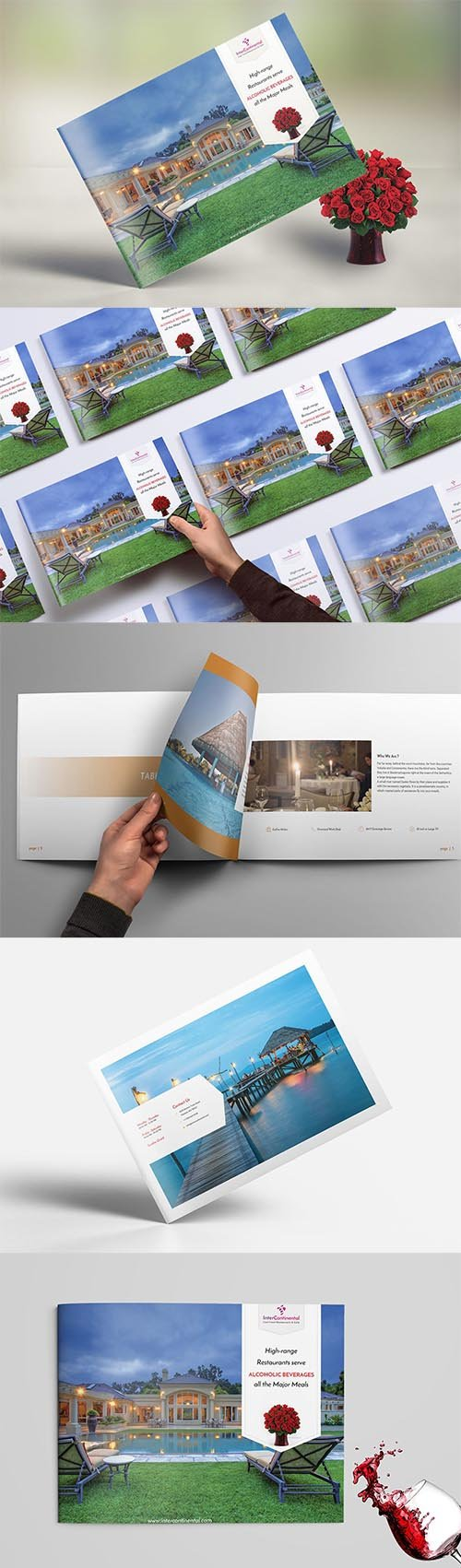 Restaurant Brochure Booklet PSD