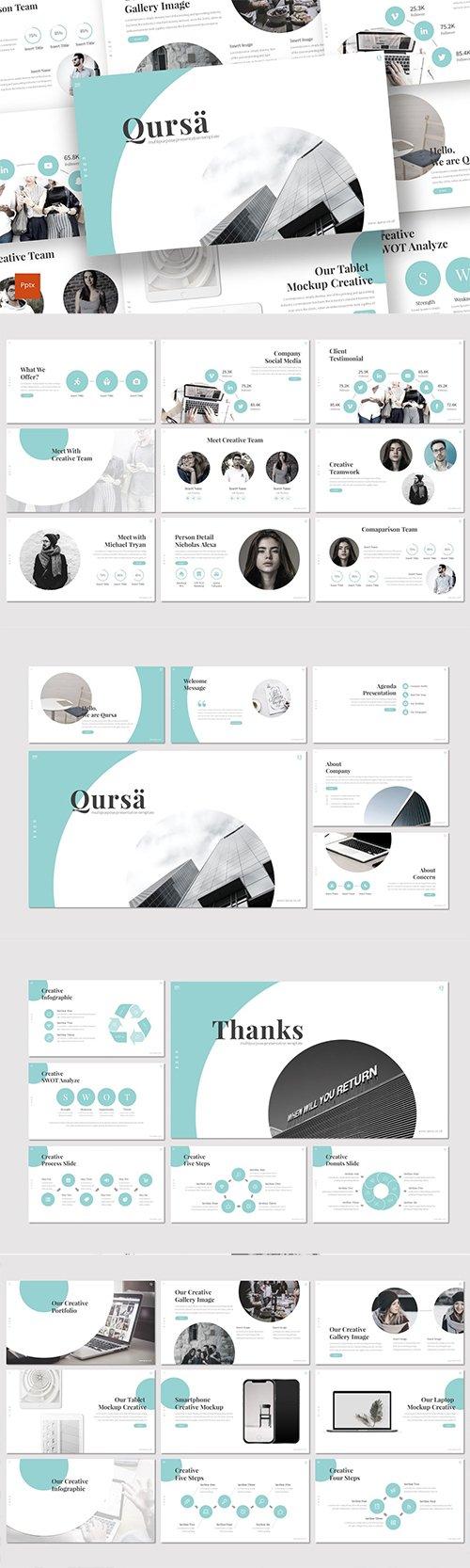 Qursa - Powerpoint Google Slides and Keynote Templates