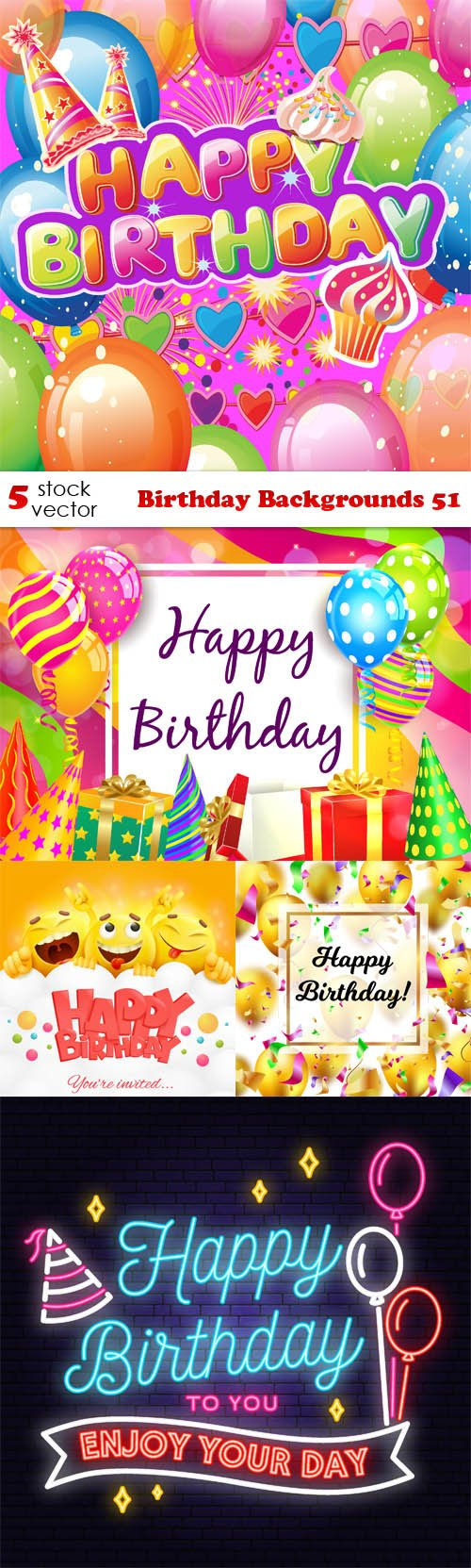 Vectors - Birthday Backgrounds 51