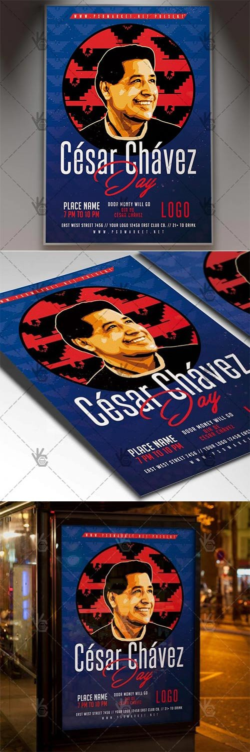 Cesar Chavez Day ? Community Flyer PSD Template