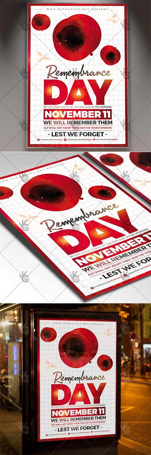 Remembrance Day ? American Flyer PSD Template