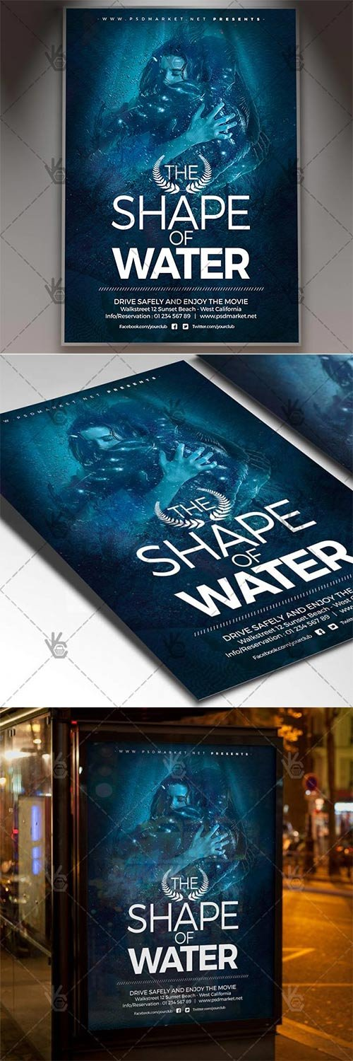 The Shape of Water ? Club Flyer PSD Template