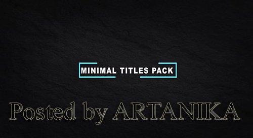 Minimal Titles Pack 230456