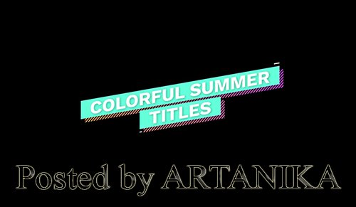 Colorful Summer Titles 229639