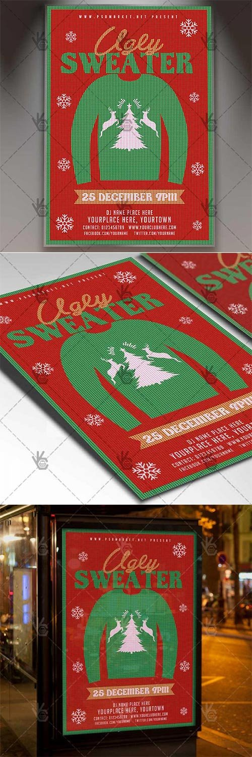 Ugly Sweater ? Winter Flyer PSD Template
