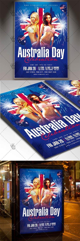 Australia Day Celebration ? Club Flyer PSD Template