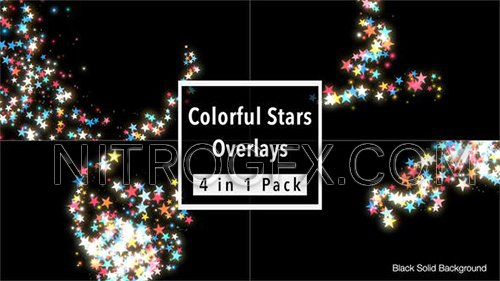Colorful Stars Overlays Pack 21585257