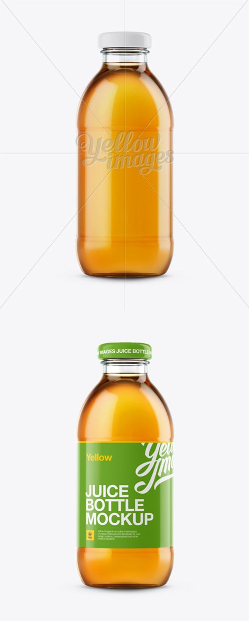 Apple Juice Glass Bottle Mockup 12148 TIF