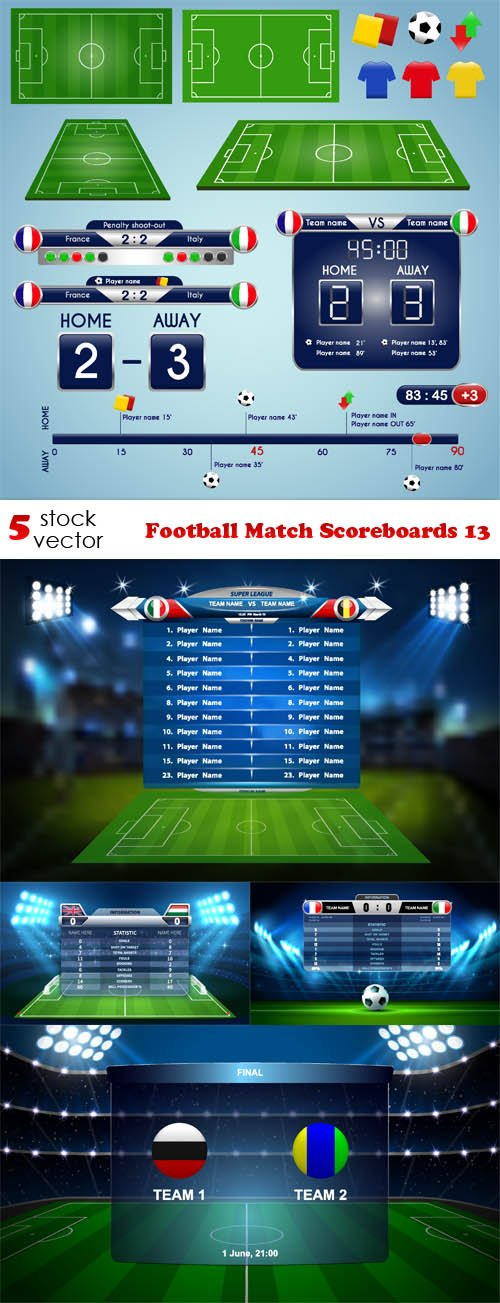 Vectors - Football Match Scoreboards 13