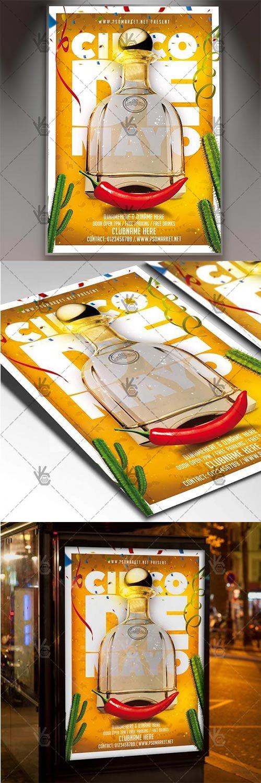 Cinco De Mayo Fiesta Flyer ? Mexican PSD Template