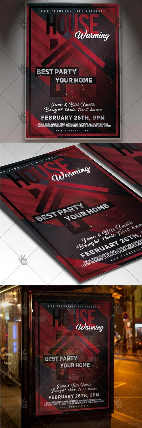 House Warming Party ? Community Flyer PSD Template
