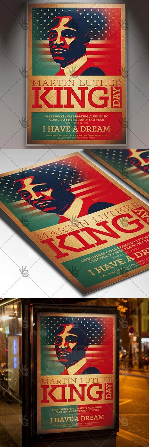 Martin Luther King Day ? American Flyer PSD Template