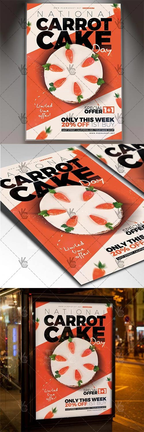 National Carrot Cake Day ? American Flyer PSD Template