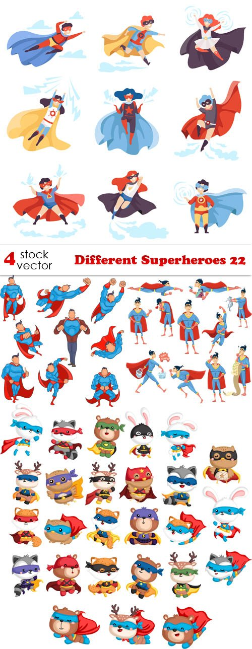 Vectors - Different Superheroes 22