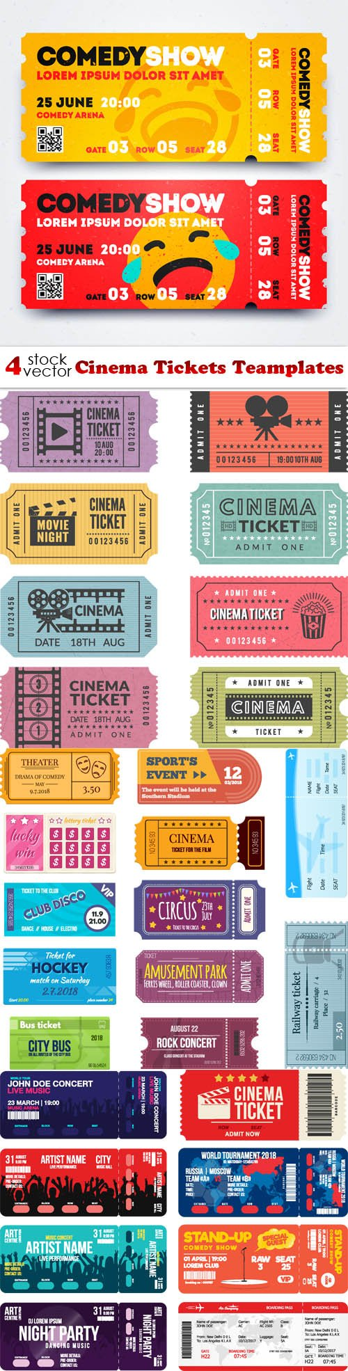 Vectors - Cinema Tickets Teamplates