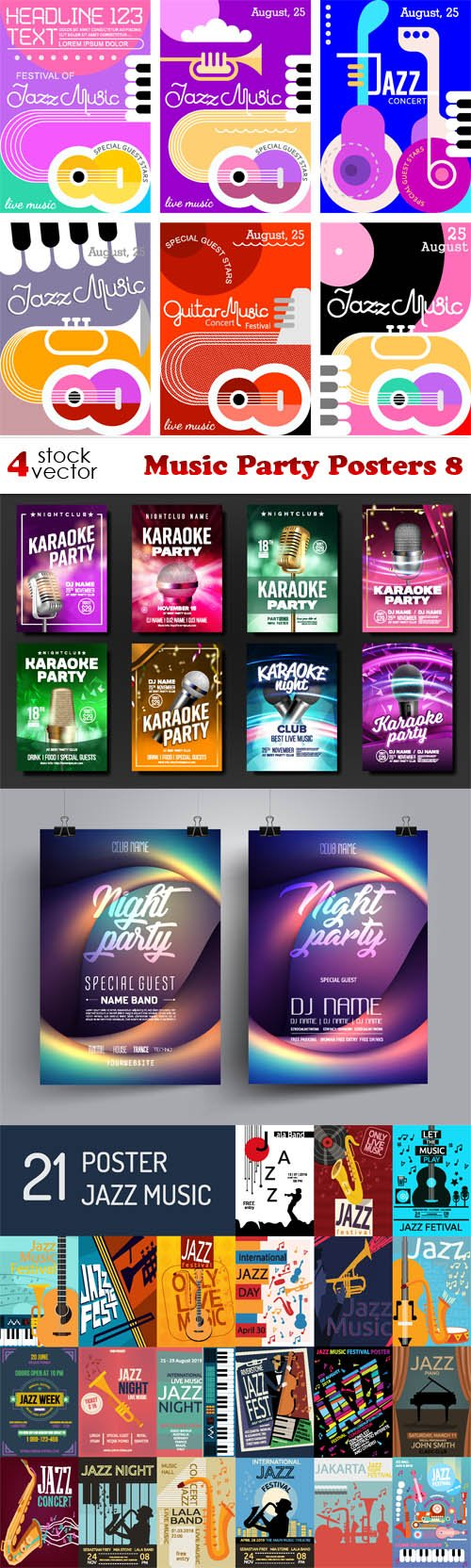 Vectors - Music Party Posters 8