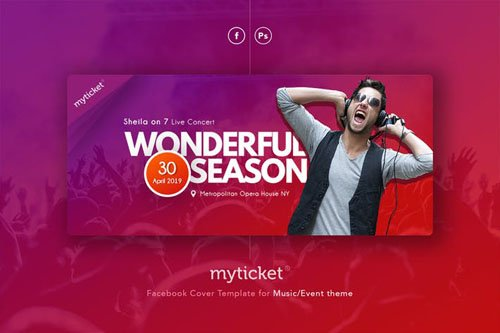 MyTicket - Event Music Facebook Cover Template
