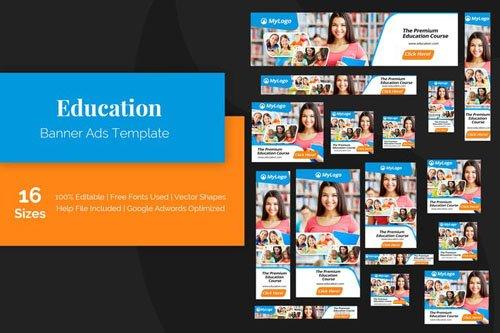 Education Banner Ads Templates - USGT2JC