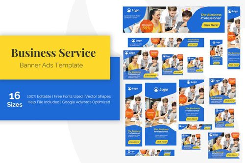Business Service Banner Ads Template - CMW9LY8