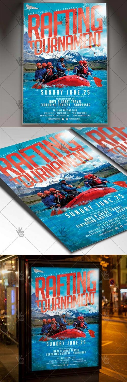 Rafting Flyer ? Sport PSD Template
