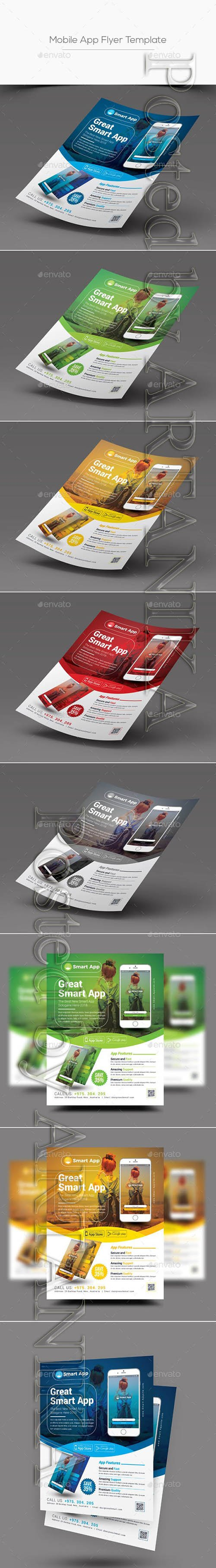 Mobile App Flyer Template 20692404