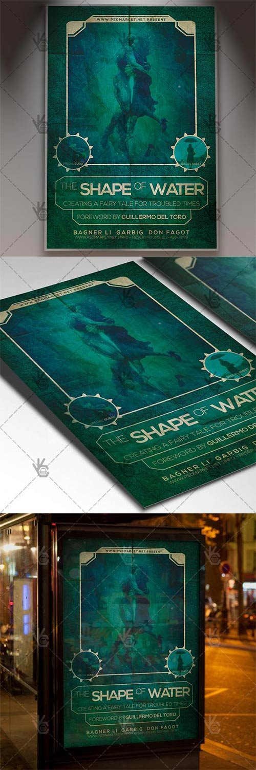 The Shape of Water Poster ? Club Flyer PSD Template