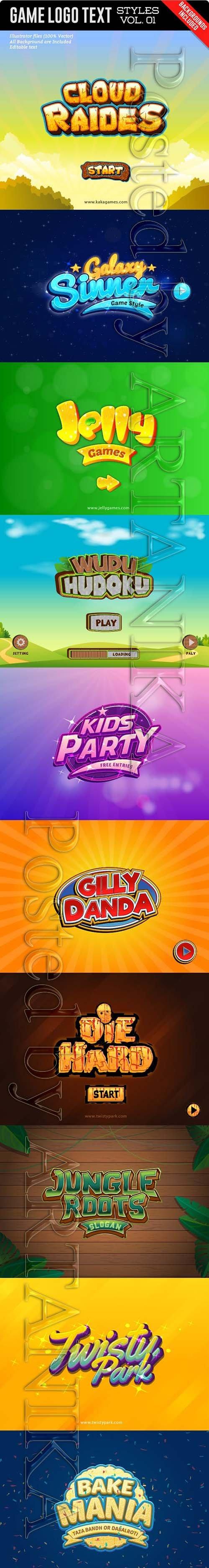 Game Logo Text Styles 18623318