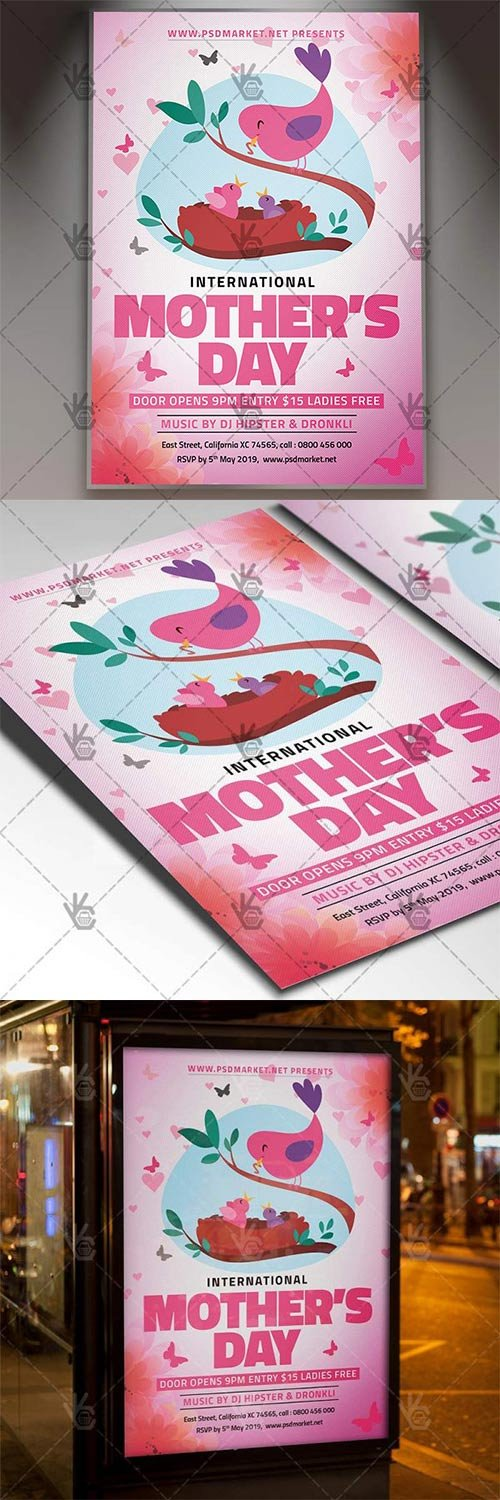 World Mothers Day Flyer ? Club PSD Template