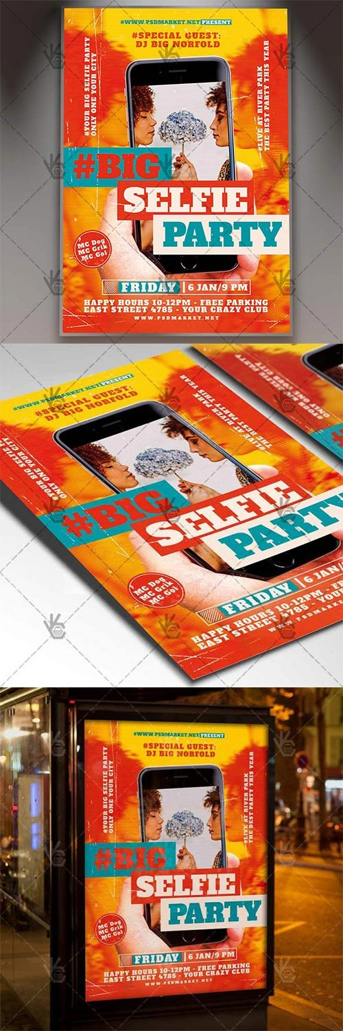 Selfie Party ? Club Flyer PSD Template