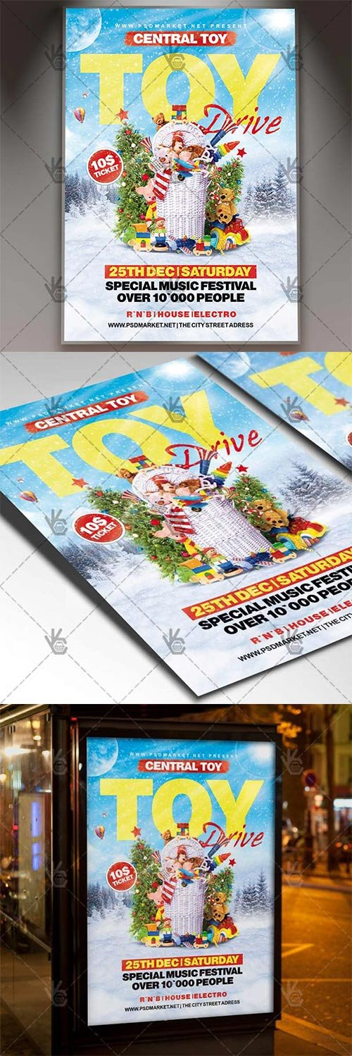 Toy Drive ? Winter Flyer PSD Template
