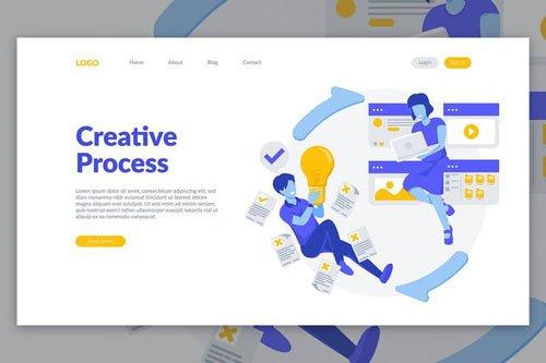 Creative Process Landing Page Illustration