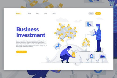 Business Investment - Landing Page Template