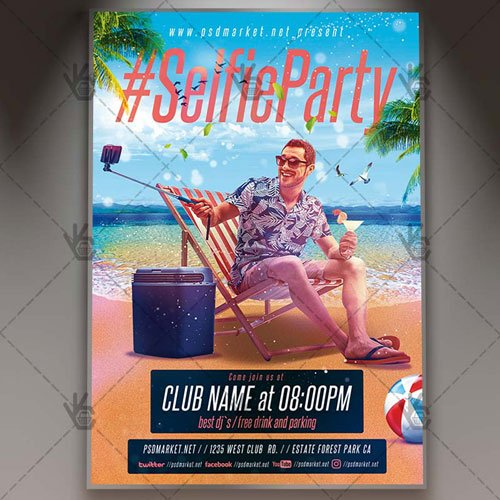 SELFIE PARTY NIGHT FLYER - PSD TEMPLATE