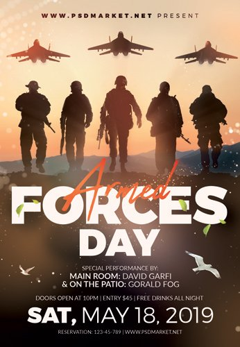 ARMED FORCES DAY 2019 FLYER ? PSD TEMPLATE