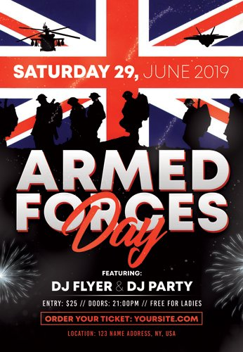 ARMED FORCES DAY FLYER ? PSD TEMPLATE