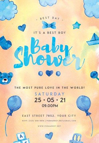 BABY SHOWER IDEAS FLYER ? PSD TEMPLATE