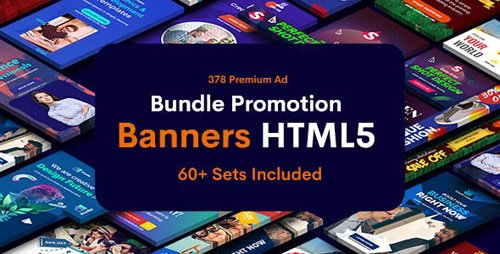 CodeCanyon - Bundle Promotion Banners HTML5 GWD & PSD - 60 Sets - 23783006
