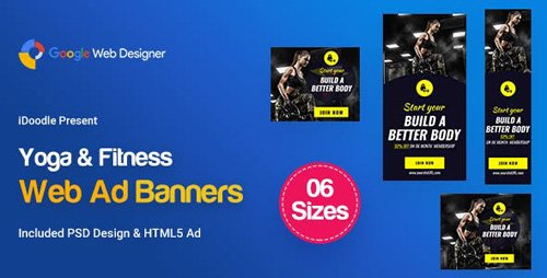 CodeCanyon - C19 - Yoga & Fitness Banners HTML5 - GWD & PSD - 23789420