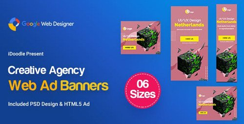 CodeCanyon - C13 - Creative, Startup Agency Banners HTML5 Ad - GWD & PSD - 23781048