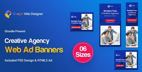 CodeCanyon - C12 - Creative Agency, Startup Banners GWD & PSD - 23757199