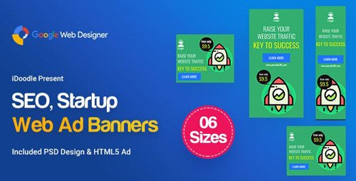 CodeCanyon - C04 - SEO, Startup Agency Banners GWD & PSD - 23750194