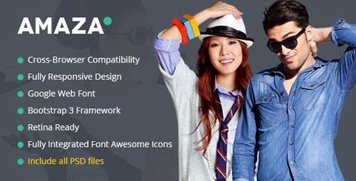 ThemeForest - Amaza v1.0 - Fashion Store HTML Template - 17376890