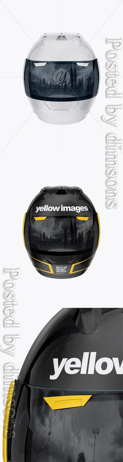 Moto GP Helmet Mockup - Front View 24958 TIF