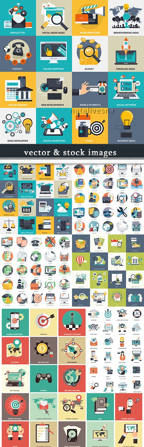 Business icon vector collection for design