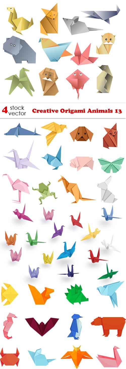 Vectors - Creative Origami Animals 13