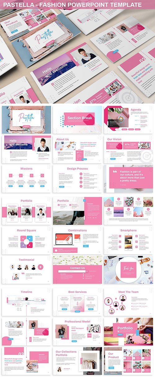 Pastella - Fashion Powerpoint Template