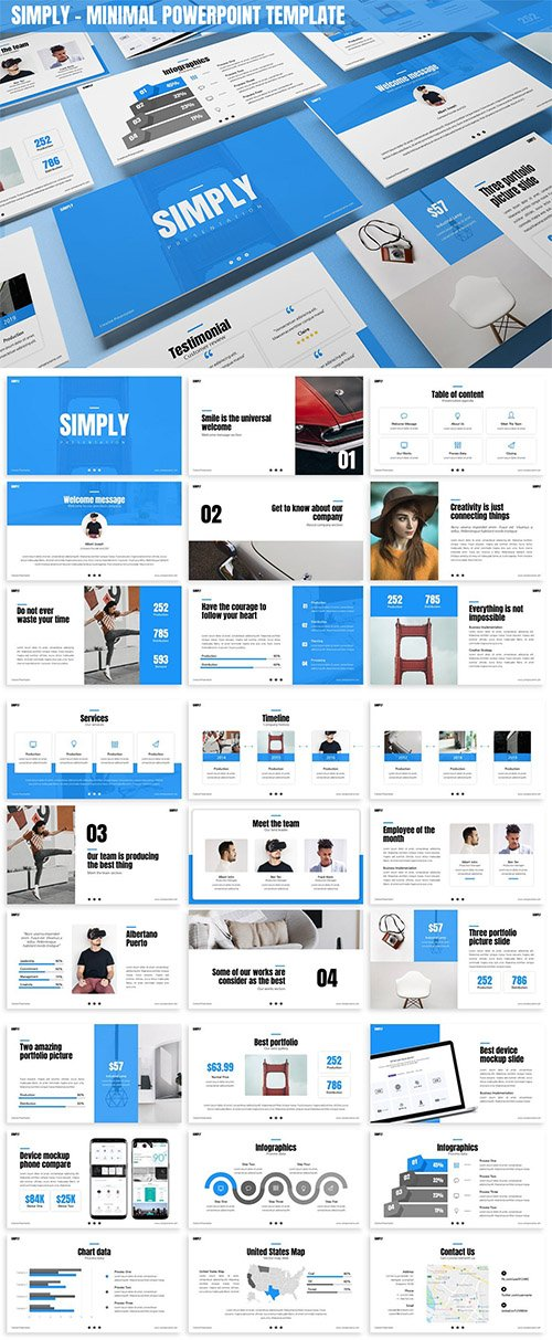Simply - Minimal Powerpoint Template