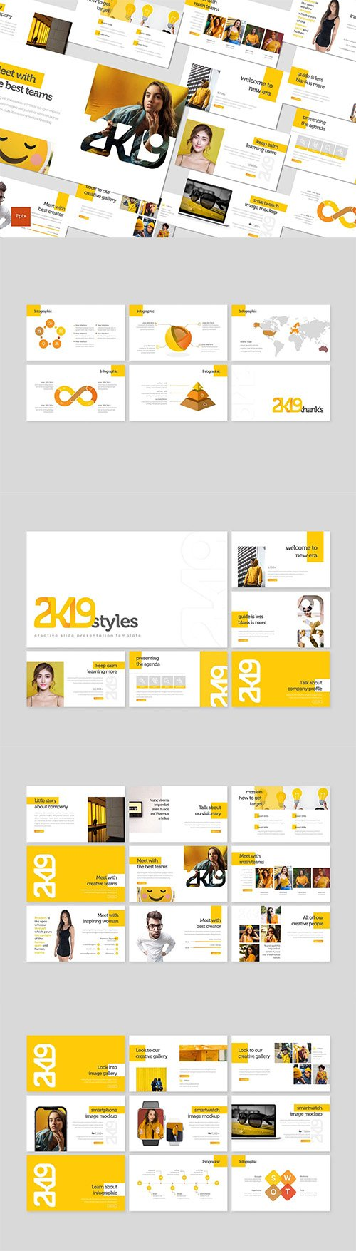 2k19 - Powerpoint, Keynote and Google Slides Templates